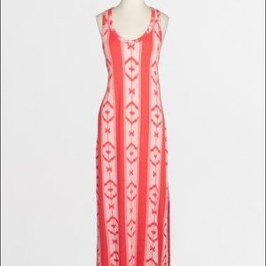 J. Crew Factory Coral Maxi Dress